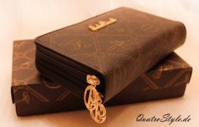 Foto 3 Giulia Pieralli Damen Geldbeutel mit umlaufendem Reißverschluss schwarz Damen Portemonnaie Geldbörse