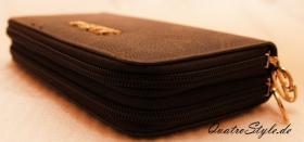 Foto 4 Giulia Pieralli Damen Geldbeutel mit umlaufendem Reißverschluss schwarz Damen Portemonnaie Geldbörse