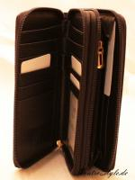 Foto 5 Giulia Pieralli Damen Geldbeutel mit umlaufendem Reißverschluss schwarz Damen Portemonnaie Geldbörse