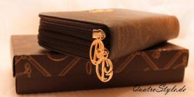 Foto 6 Giulia Pieralli Damen Geldbeutel mit umlaufendem Reißverschluss schwarz Damen Portemonnaie Geldbörse