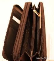 Foto 7 Giulia Pieralli Damen Geldbeutel mit umlaufendem Reißverschluss schwarz Damen Portemonnaie Geldbörse