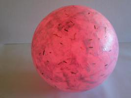 Foto 3 Glas Leuchtkugel mit LED Farbwandler