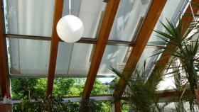 Glas oder Wintergarten Beschattung