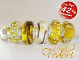 Glasbeads-Set Angebot 01 - Honig