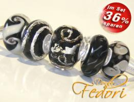Glasbeads-Set Angebot 06 - Schwarze Impression