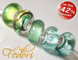 Glasbeads-Set Angebot 102 - Turquoise Dream