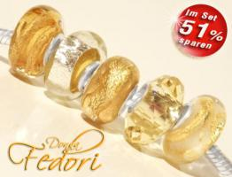 Glasbeads-Set Angebot 115 - Golden Esprit