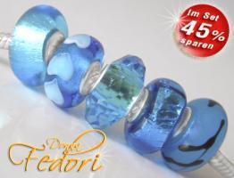 Glasbeads-Set Angebot 118 - Blauer Gletscher