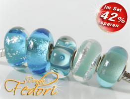 Glasbeads-Set Angebot 124 - Bergkristall