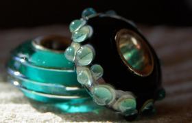 Foto 2 Glasperlen,  Pandora-Style, Trollbead-Style