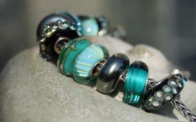 Foto 3 Glasperlen,  Pandora-Style, Trollbead-Style