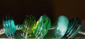 Foto 8 Glasperlen,  Pandora-Style, Trollbead-Style