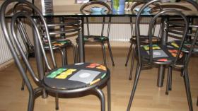 Foto 4 Glastisch Tischgruppe mit 6 St�hle