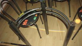 Foto 5 Glastisch Tischgruppe mit 6 St�hle