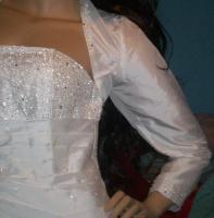 Foto 2 Glitzerndes Brautkleid Hochzeitskleid mit Schleppe, NEU