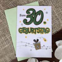Glückwunschkarte zum 30. Geburtstag lustige und ausgefallene