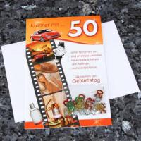 Glückwunschkarte zum 50. Geburtstag beliebte und besondere