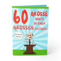 Glückwunschkarte zum 60. Geburtstag elegante und stilvolle