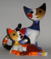 Goebel: Original Rosina Wachtmeister Katze Lidia & Lidio 17cm groß NEU+OVP