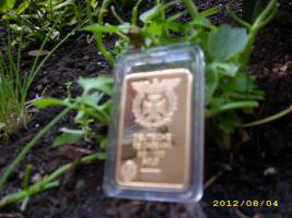 Foto 2 °°° Goldbarren (vergoldeter Barren)999/1000°°°