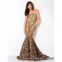 Goldenes Meerjungfrauen Abendkleid Online