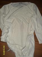 Goldfarbendes Glänzendes Langarmshirt mit seitlicher Raffung individuell