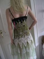 Foto 3 Gothik Abendkleid bodenlang 40/42 Rosen Spitzen T�ll NEU gr�n
