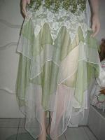 Foto 4 Gothik Abendkleid bodenlang 40/42 Rosen Spitzen T�ll NEU gr�n