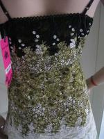 Foto 5 Gothik Abendkleid bodenlang 40/42 Rosen Spitzen T�ll NEU gr�n