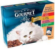 Gourmet Perle (Rind, Kaninchen, Lachs, Huhn) 8x85 g Katzenfutter von Purina, 2er Pack (2 x 680 g)