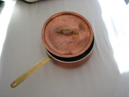 Gourmet Wassertopf mit Deckel aus Kupfer