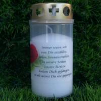 Foto 3 Grablicht mit Spruch zum Gedenken. Immer wenn wir von Dir erzählen