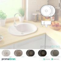 Granitspüle BARCELONA Geschirr Küchengerät mit automatischer Siphon