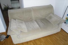 Gratis: Couch, 2x Zweisitzer, beige