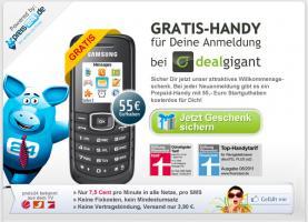 Gratis Handy mit 55 Euro Startguthaben - ohne Vertrag - ohne Laufzeit - einfach so -