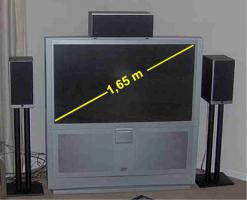 Grossbild TV JVC 1,65m Bild HDTV Ready ''Rear Projection''