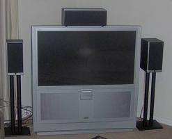 Foto 3 Grossbild TV JVC 1,65m Bild HDTV Ready ''Rear Projection''