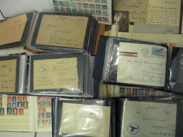 Foto 5 Grosse Kiste Briefmarken, Feldpost, Flugpost, &Dokumente, Militaria