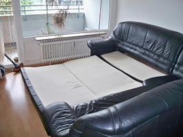 Foto 2 Große Ledercouch 2,70m x 2,30m mit ausziehbarem Bett