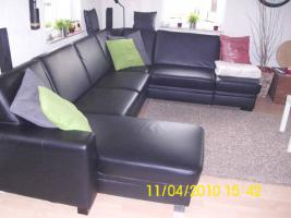 gro e ledercouch in rastatt u form bettfunktion schwarz lederimitat. Black Bedroom Furniture Sets. Home Design Ideas