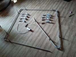 Große verstellbare Deckenlampe mit Schienen GU10 Sockel, 8 Birnen
