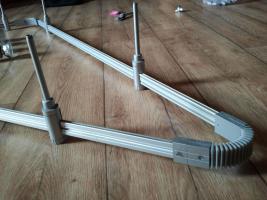 Foto 3 Große verstellbare Deckenlampe mit Schienen GU10 Sockel, 8 Birnen
