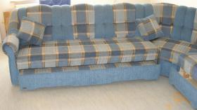 Foto 4 Große, moderne Couchgarnitur mit Schlaffunktion und Rundecke