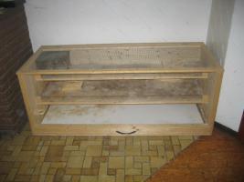 Foto 4 Großer Kleistierstall, 3 Etagen, Holz mit Plexiglasscheibe und Gitter