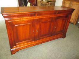 Foto 6 Grosser ovaler Tisch mit 6 Stühlen- Kirsch Holz