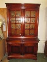 Foto 7 Grosser ovaler Tisch mit 6 Stühlen- Kirsch Holz