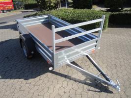 Foto 2 Großer stabieler Stahlblech Anhänger 750kg ca. 250. x 125 x 30cm