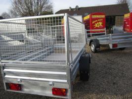 Foto 7 Großer stabieler Stahlblech Anhänger 750kg ca. 250. x 125 x 30cm
