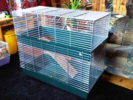 Großer zweistöckiger Nagerkäfig