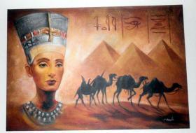 Großes Ägyptenbild Leinwand